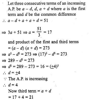 RD Sharma Class 10 Solutions Chapter 5 Arithmetic Progressions MCQS 6