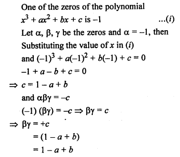 RS Aggarwal Class 10 Solutions Chapter 2 Polynomials MCQS 14