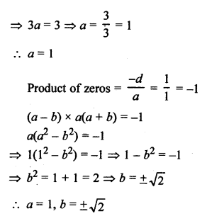 RS Aggarwal Class 10 Solutions Chapter 2 Polynomials Test Yourself 6