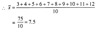 Selina Concise Mathematics Class 10 ICSE Solutions Chapter 24 Measures of Central Tendency Ex 24A Q3.1