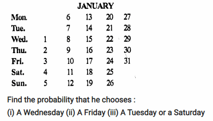 Selina Concise Mathematics Class 10 ICSE Solutions Chapter 25 Probability Ex 25A Q15.1