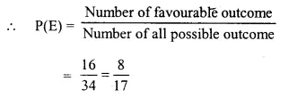 Selina Concise Mathematics Class 10 ICSE Solutions Chapter 25 Probability Ex 25C Q16.2