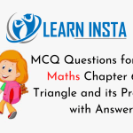 MCQ Questions for Class 7 Maths Chapter 6 The Triangle and its Properties with Answers