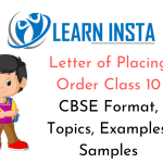 Letter of Placing Order Class 10