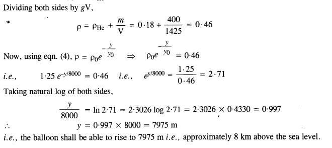 NCERT Solutions for Class 11 Physics Chapter 10 Mechanical Properties of Fluids 30