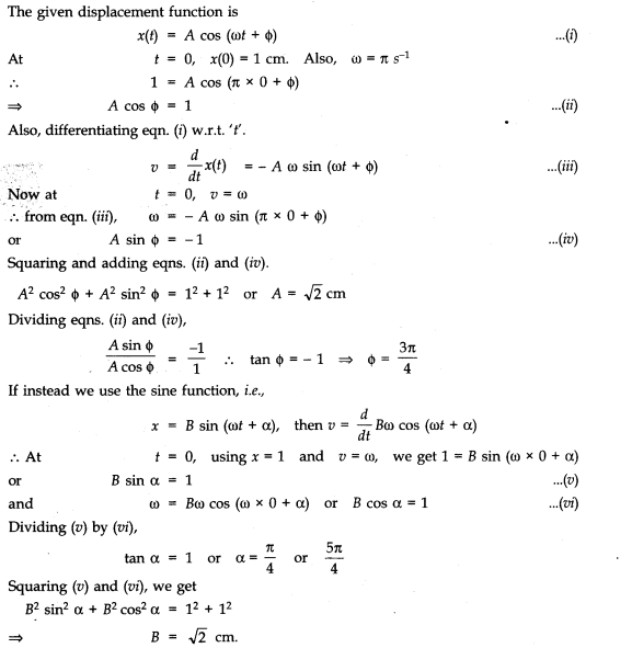 NCERT Solutions for Class 11 Physics Chapter 14 Oscillations 5