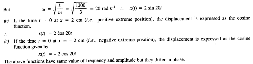 NCERT Solutions for Class 11 Physics Chapter 14 Oscillations 9