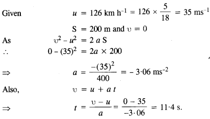 NCERT Solutions for Class 11 Physics Chapter 3 Motion in a Straight Line 4