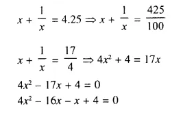 Selina Concise Mathematics Class 10 ICSE Solutions Chapter 6 Solving Problems Ex 6A Q4.1