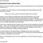 Administrator Covering Letter Example For Job Applications