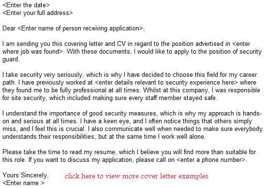 Security Guard Application Jobs