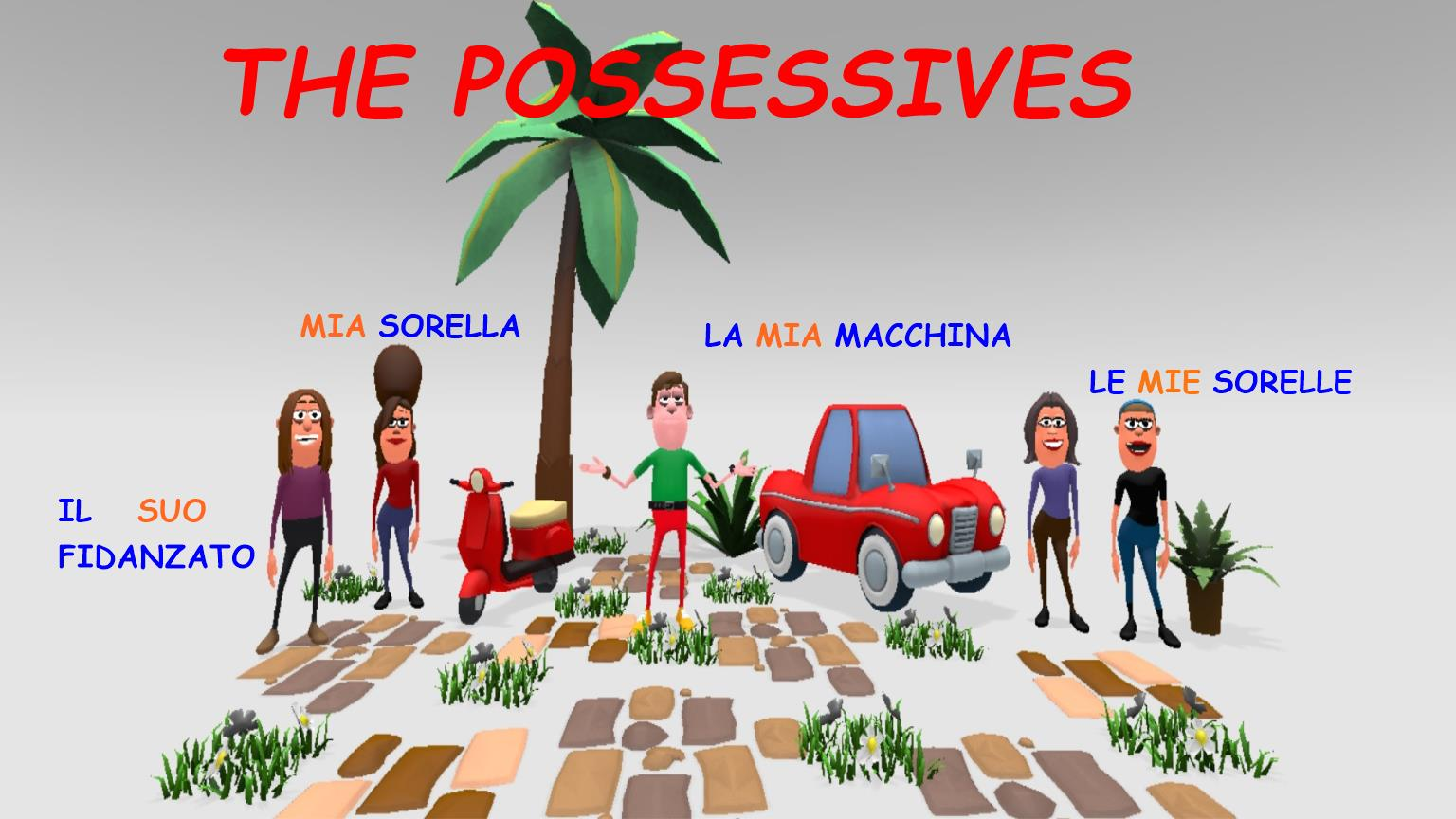 Gli Aggettivi Possessivi Italian Possessive Adjectives T