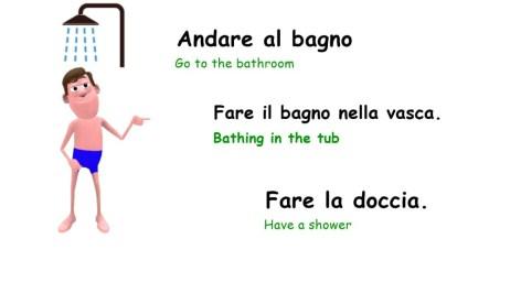 daily routine in italian - Fare la doccia