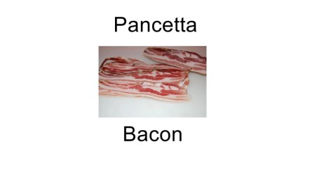 Bacon in italian language