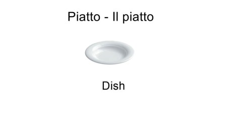 Piatto - Il piatto - Dish in italian