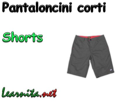 Shorts in italian language