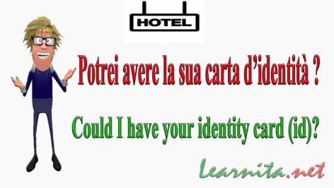 identity card (id) in italian