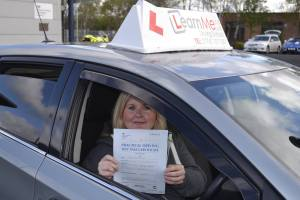 Driving test success for Karen
