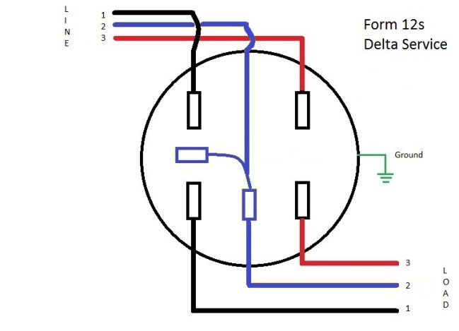 delta wiring diagrams form 12s meter wiring diagram learn metering  form 12s meter wiring diagram learn