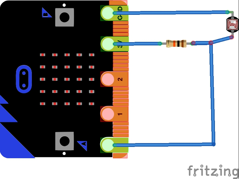 microbit and ldr example