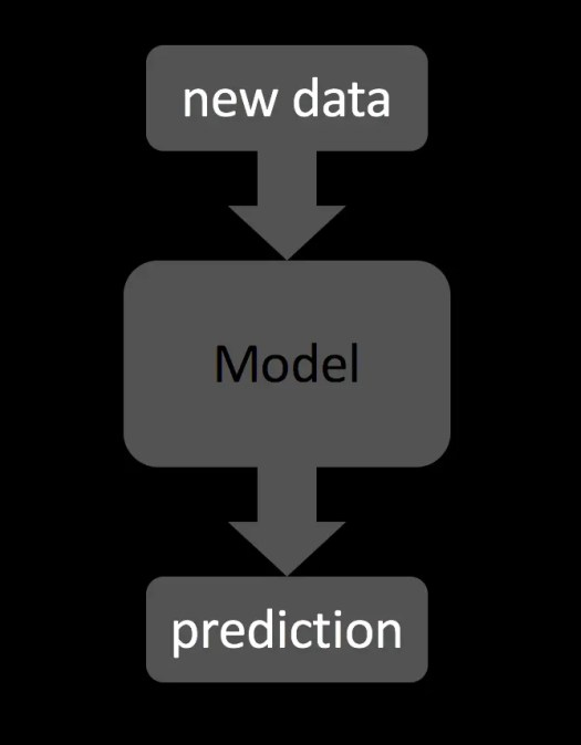 How Machine Learning predicts new data.
