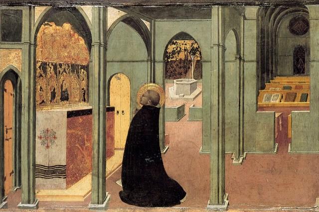 Thomas Aquinas in prayer