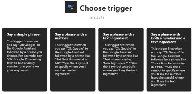 Google Assistant IFTTT