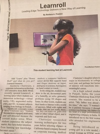 "montynews - Learnroll Immerse featured in ""The Montgomery News"""