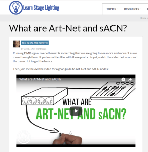 Art-Net and sACN