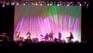 Band on stage with lighting