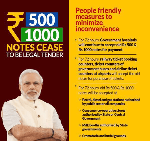 How discontinuing 1000 and 500 rupees notes will affect the people, the black money holder and the RBI