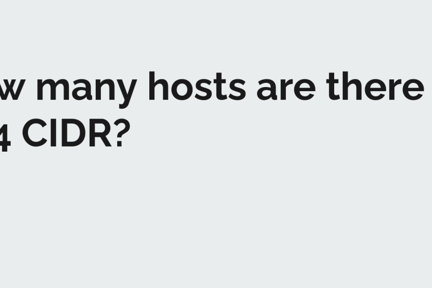 DevOps Interview Questions: How many usable IPs are there in /24 CIDR?