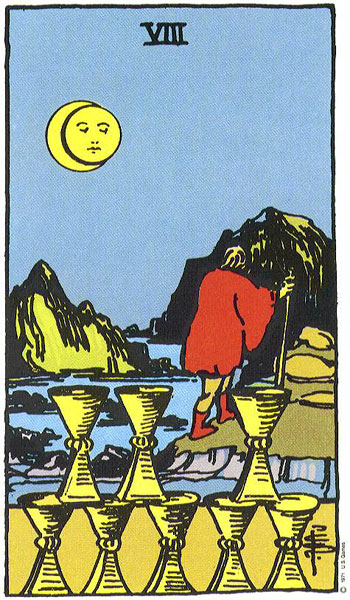 Image result for the eight of cups card