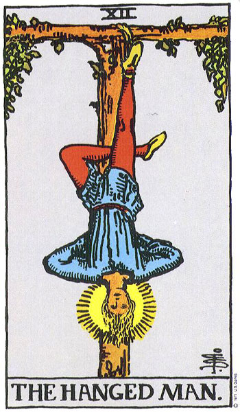 Image result for tarot hanged man