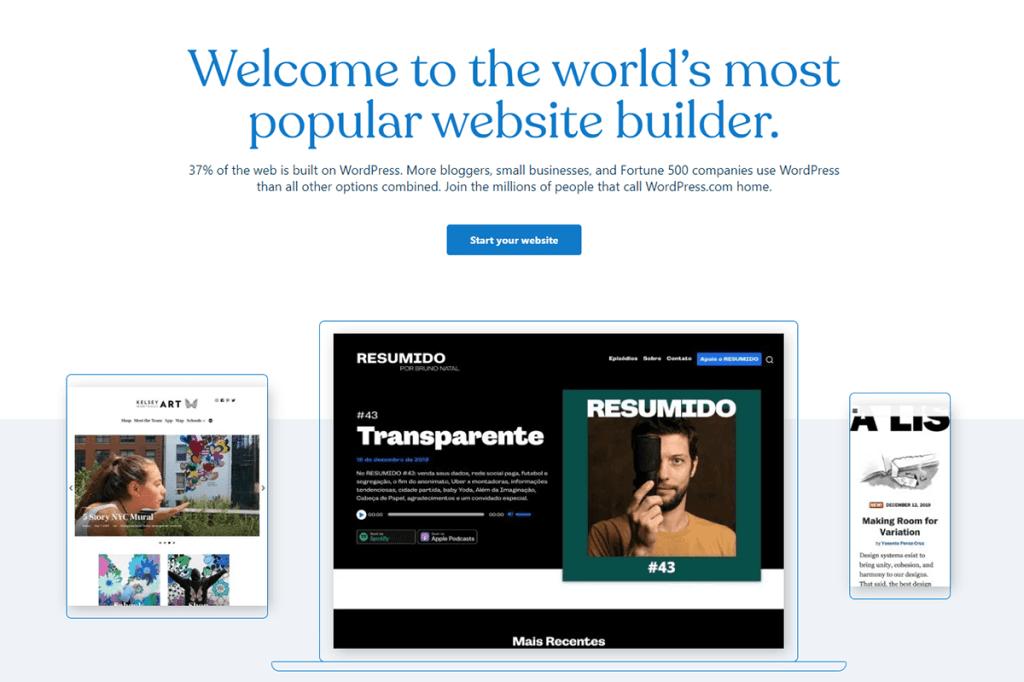 blogging platform WordPress