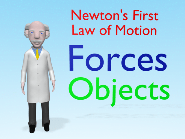 a look at newtons first law of motion Physics video on newton's first law of motion, also called the law of inertia newton's first law of motion states that an object at rest stays at rest and an object in motion stays in motion unless affected by a force.