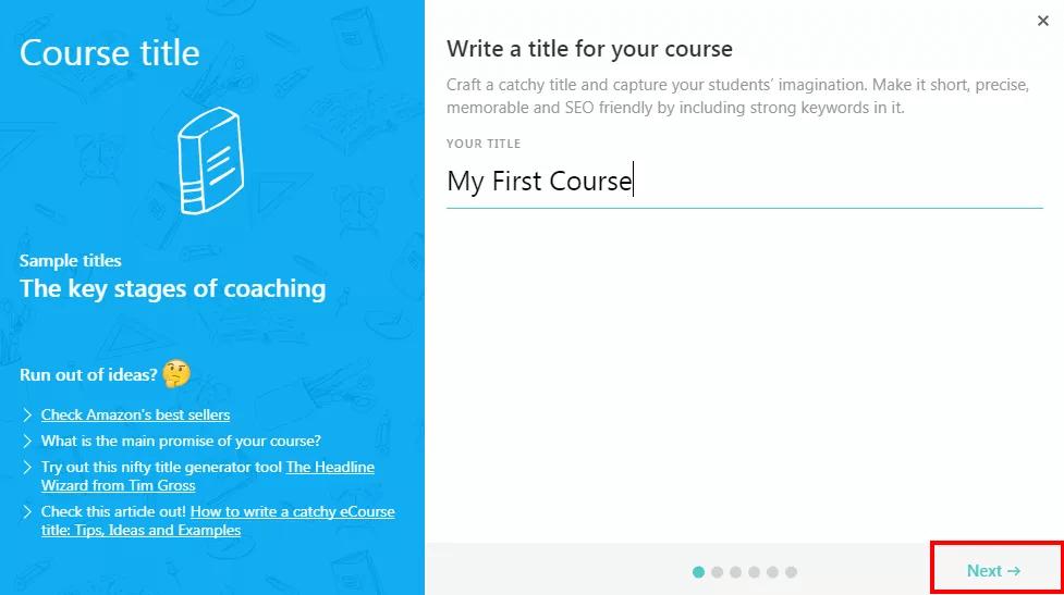 Easy Course Wizard Setup