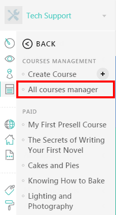Manage All Courses with LearnWorlds