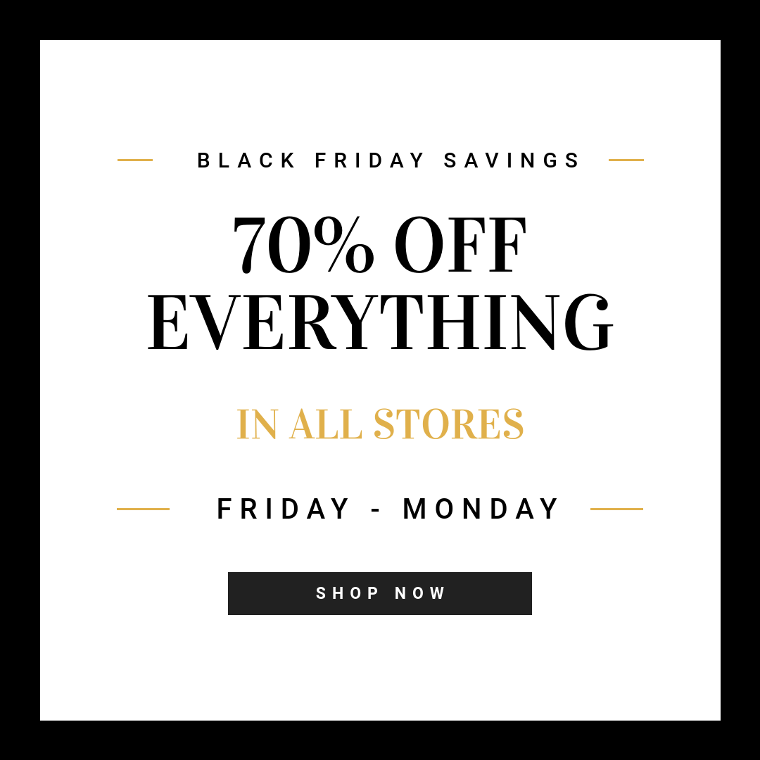 Black Friday Templates from Bannersnack