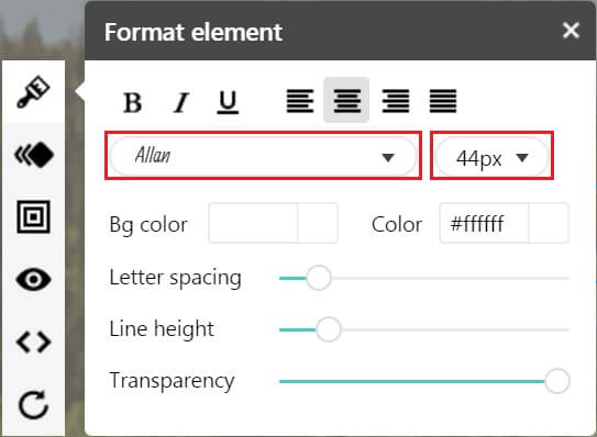 formating fonts
