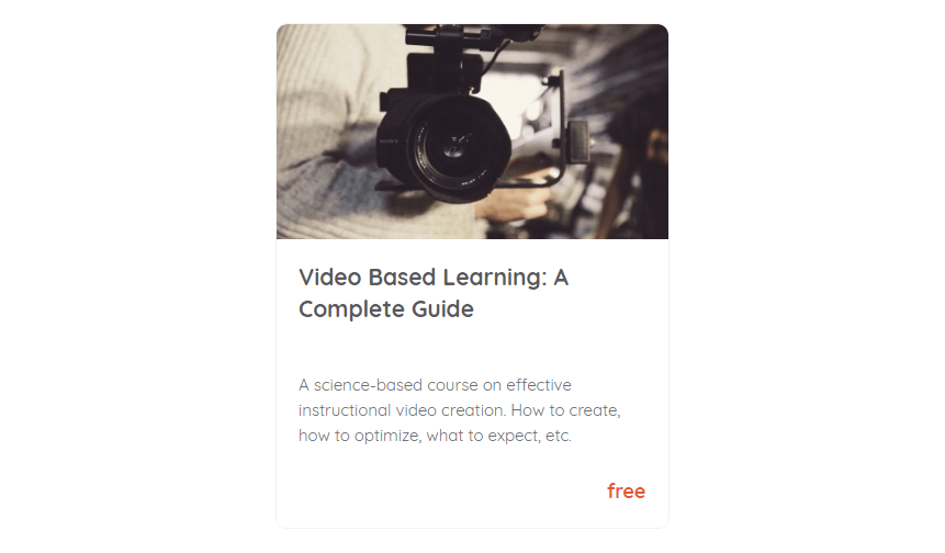 Video Based Learning: A Complete Guide - Course