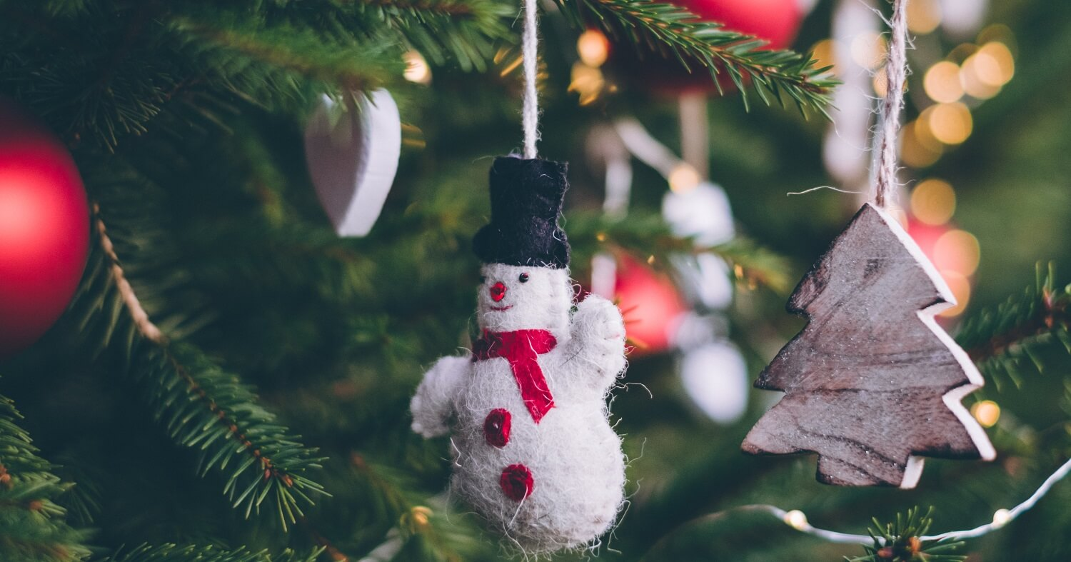 christmass gift with snowman