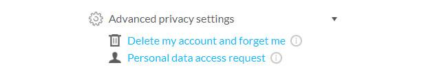 Data Access/Delete Requests