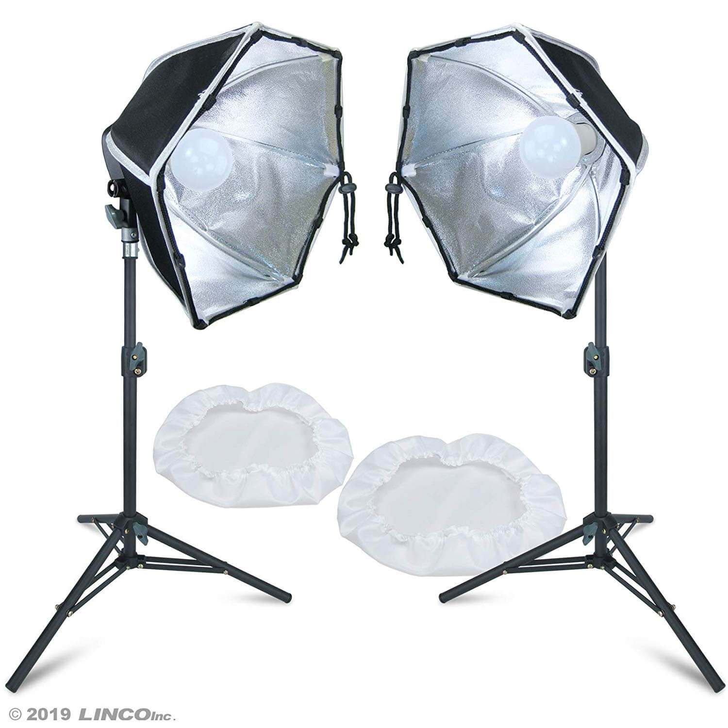 Backgrounds Lights Umbrellas Softboxes LINCO Zenith 30 Inch Mini Light Stand Set of Two Photography Back Light Stands for Relfectors