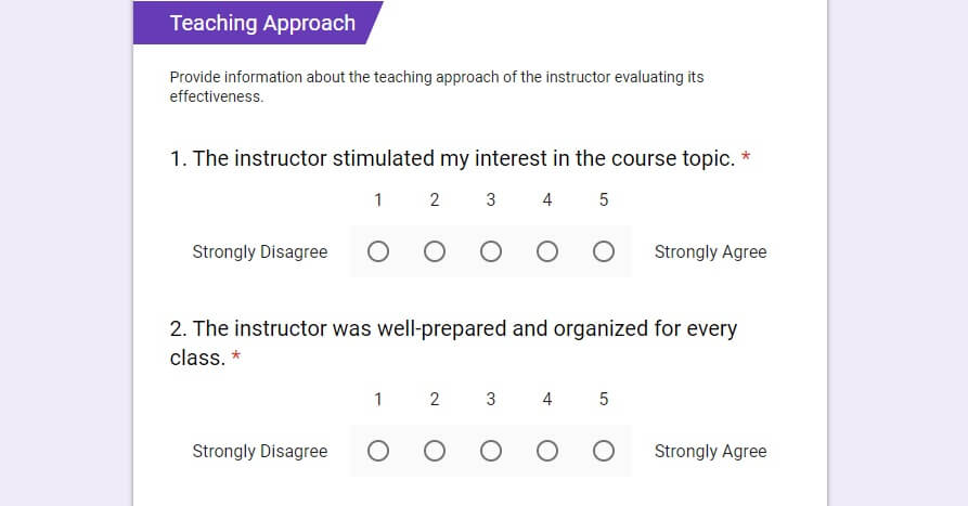 get the course evaluation template