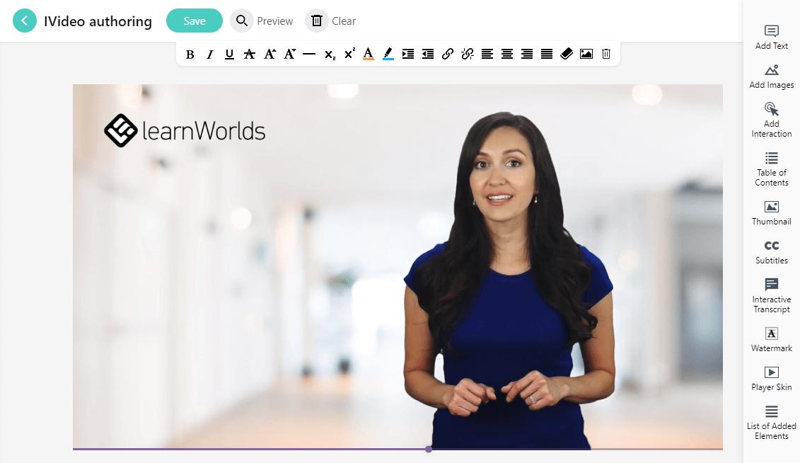 new interactive video editor screenshot