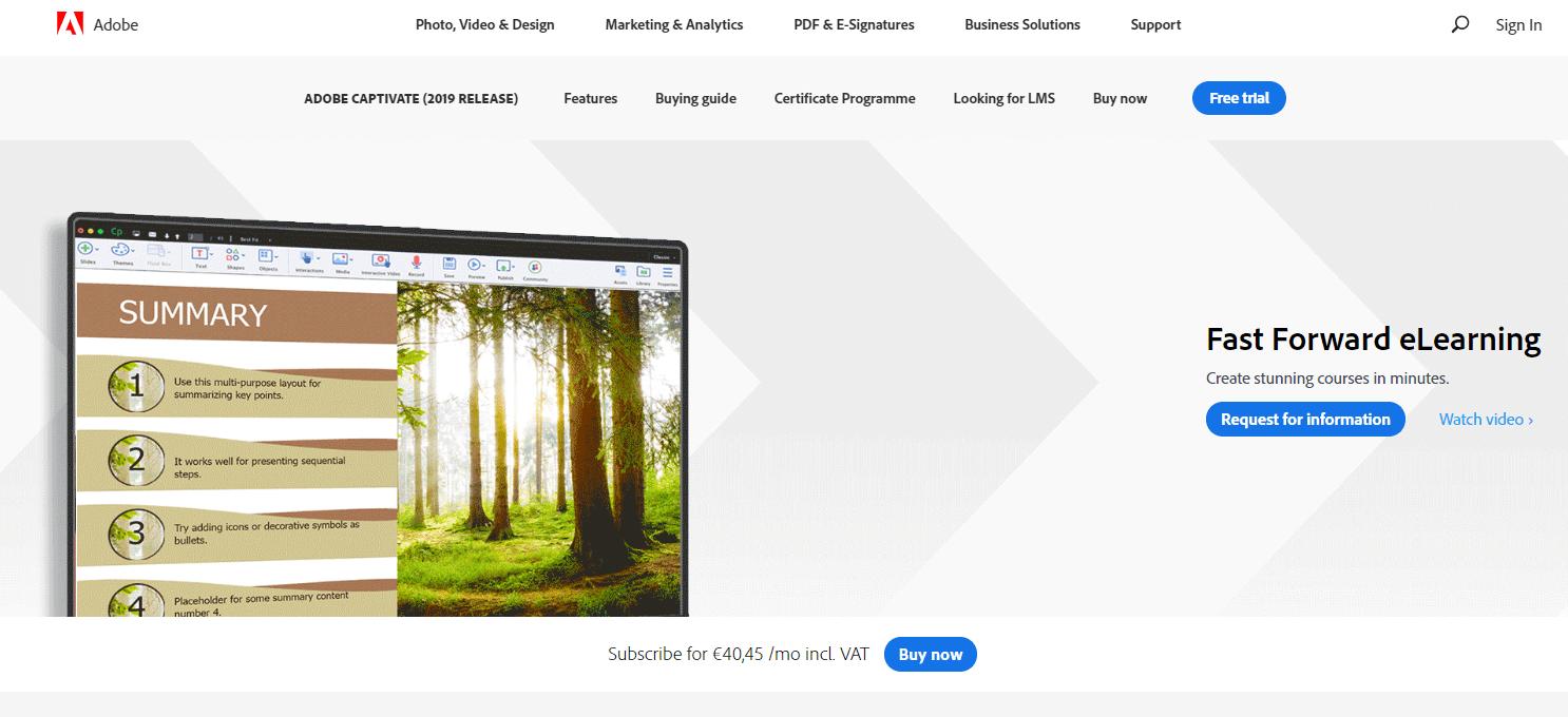Adobe Captivate Website