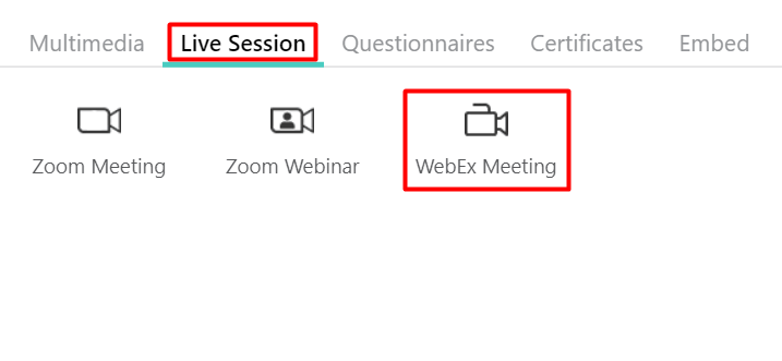 LearnWorlds Webex Integration