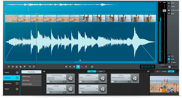 Mixing and editing audio for courses