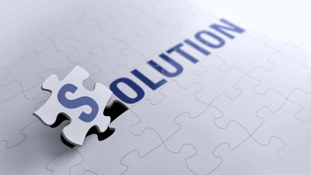 Palabra solución formada con un puzzle